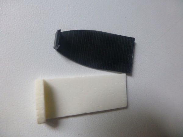 CELLO BOW TIP, TWO PART SET, WHITE BONE AND BLACK ABS, UK SELLER, FAST DESPATCH